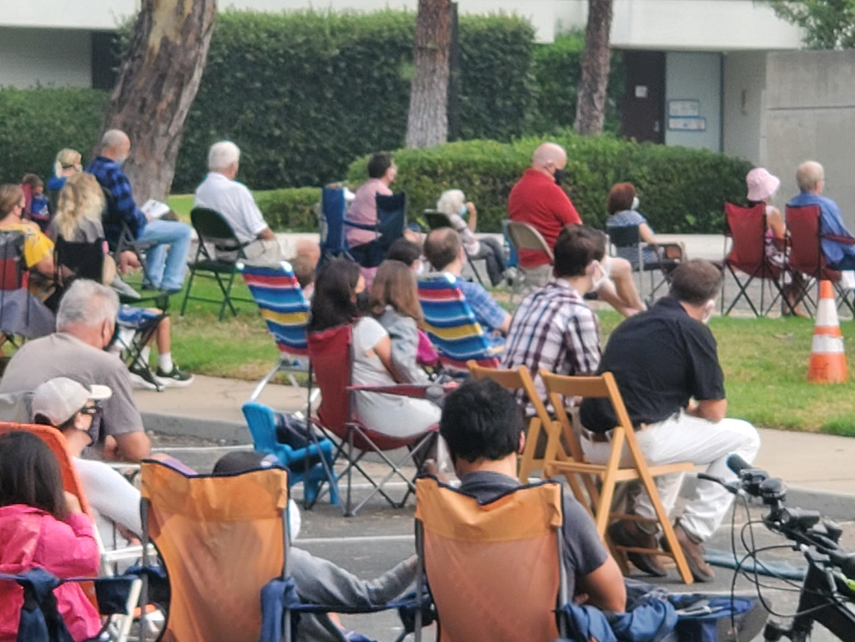 Outdoor Mass Parishioners
