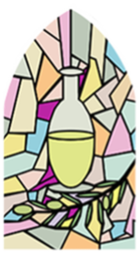 Anointing Stained Glass Window