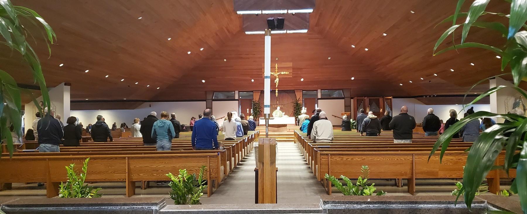 First Mass Back In Church 1 Ken D Cropped