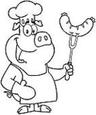 Outlined Pig Chef