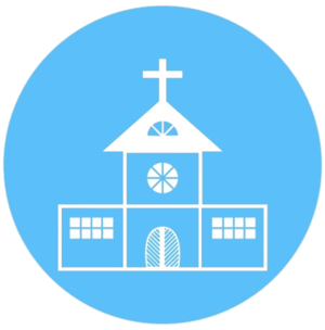 Blue Transparent Church Icon