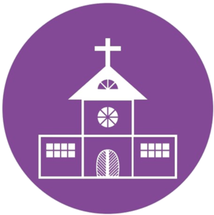 Purple Transparent Church Icon
