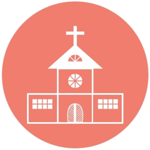 Salmon Transparent Church Icon