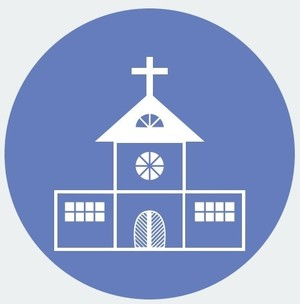 Vectorstock 3104472   Blue Gray Church Icon
