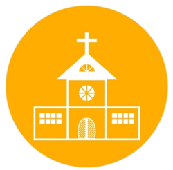 Yellow Transparent Church Icon